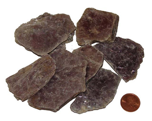 Lepidolite rough stones - Extra Large