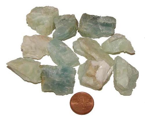 Raw Aquamarine Stones - size medium