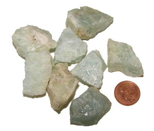 Aquamarine rough stones - size large