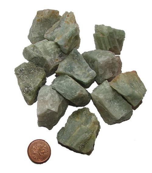 Raw Aquamarine Stones - size extra large
