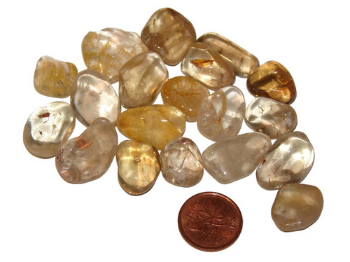 Tumbled natural Citrine stones - size extra small