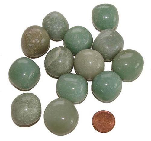 Tumbled Green Aventurine Stones, size extra large