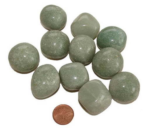 size xx large tumbled green aventurine stones