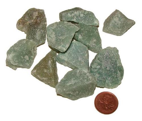 raw green aventurine stones - size medium