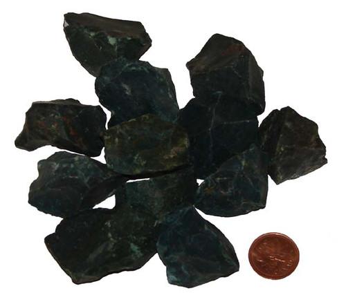 Raw Bloodstone stones - Size Extra Large