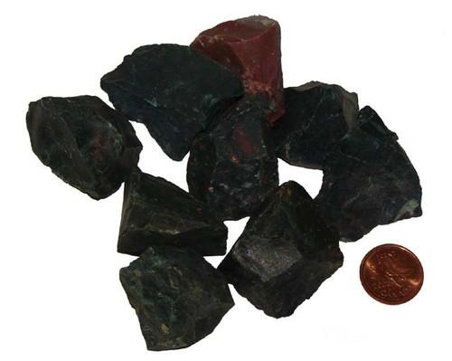 Raw Bloodstone stones - sze XX Large