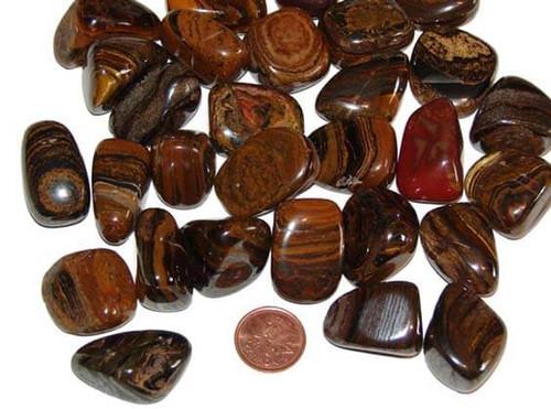 Tiger Iron tumbled stones - size large
