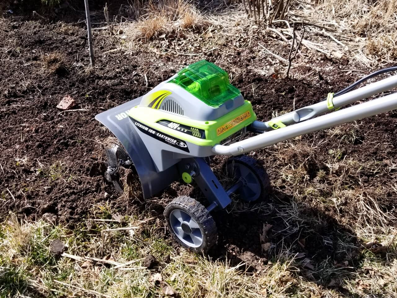 Save Time Prepping Beds with a Cordless Electric Tiller