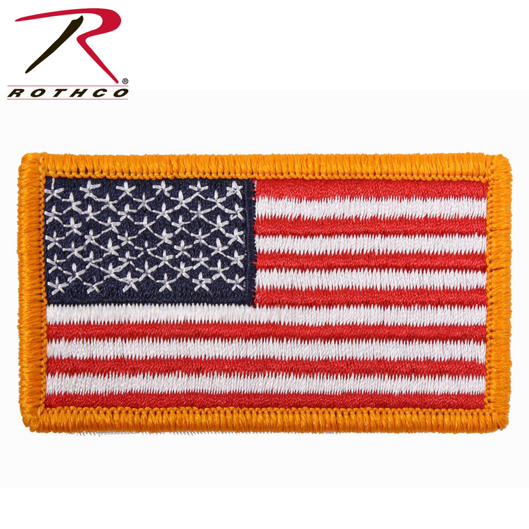 AMERICAN FLAG PATCH W/HOOK BACK