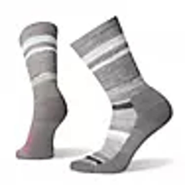 Women's Striped Light Hiking Crew Socks