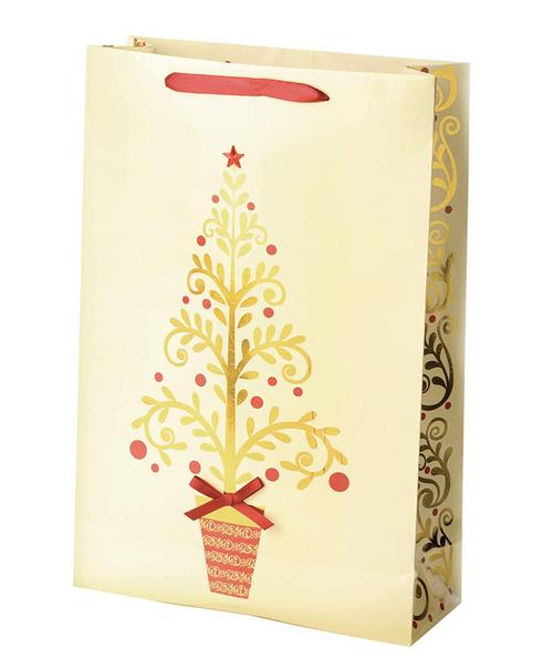 Golden Tree Double Wine Gift Bag