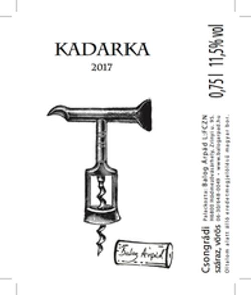 Balog Arpad Kadarka 2017, Great Plain, Hungary