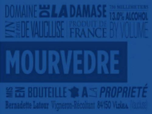 Domaine de la Damase Mourvèdre 2016, Rhône Valley, France
