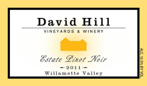 David Hill Pinot Noir 2019, Willamette Valley, Oregon