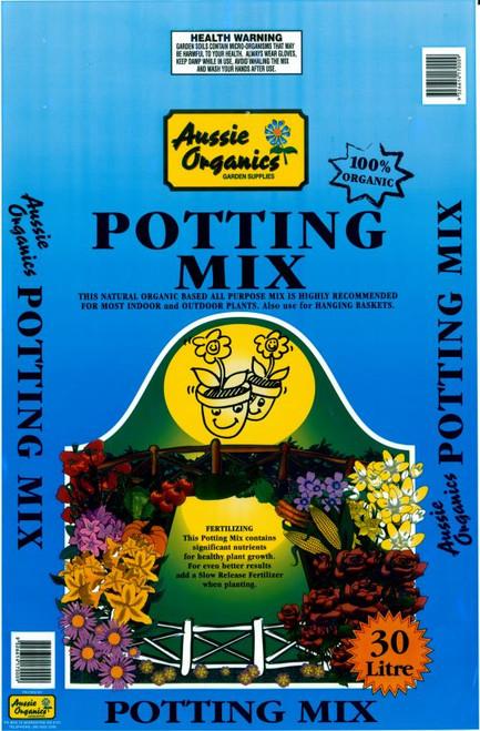 Aussie Organics Premium Potting Mix 30lt