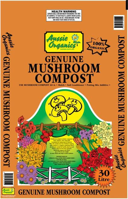 Aussie Organics Mushroom Compost 30lt