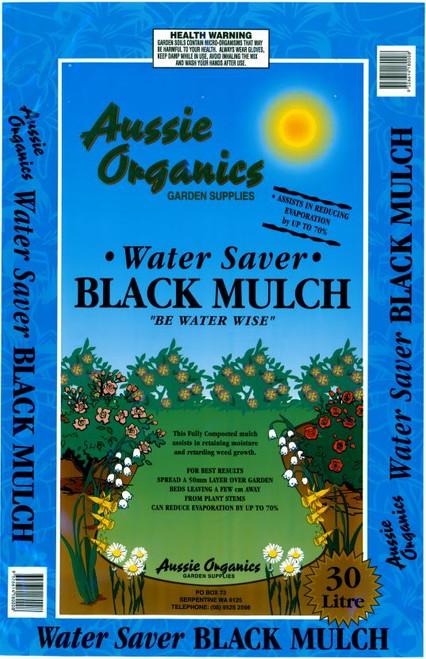 Aussie Organics Water Saver Black Mulch 30lt