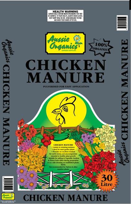 Aussie Organics Chicken Manure 30lt