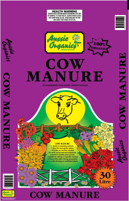 Aussie Organics Cow Manure 30lt
