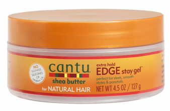 Cantu Shea Butter for Natural Hair Edge Stay Gel Extra Hold 4.5oz