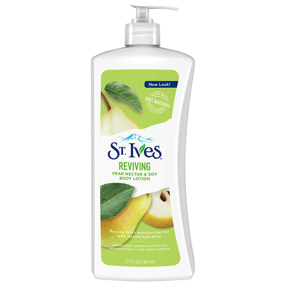 St. Ives Reviving Pear Nectar & Soy Body Lotion 21 oz