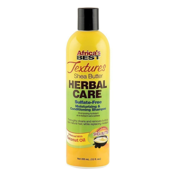 Africa's Best Textures Collection Shea Butter Herbal Care Sulfate-Free Moisturizing & Conditioning Shampoo 12 oz