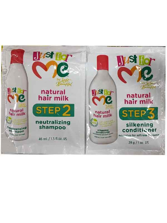 Just For Me Natural Hair Milk Shampoo 1.5oz & Conditioner 1 oz