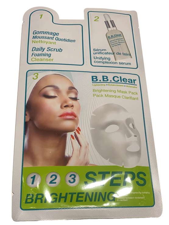 B.B.Clear Brightening Mask Pack Pack Masque Clarifiant 1Box 28Count