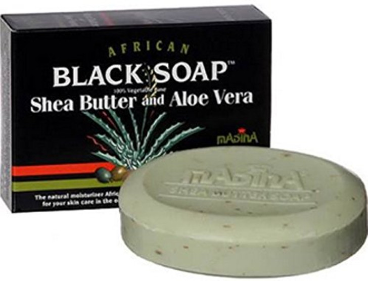 Madina African Black Soap Shea Butter and Aloe Vera 3.5 oz