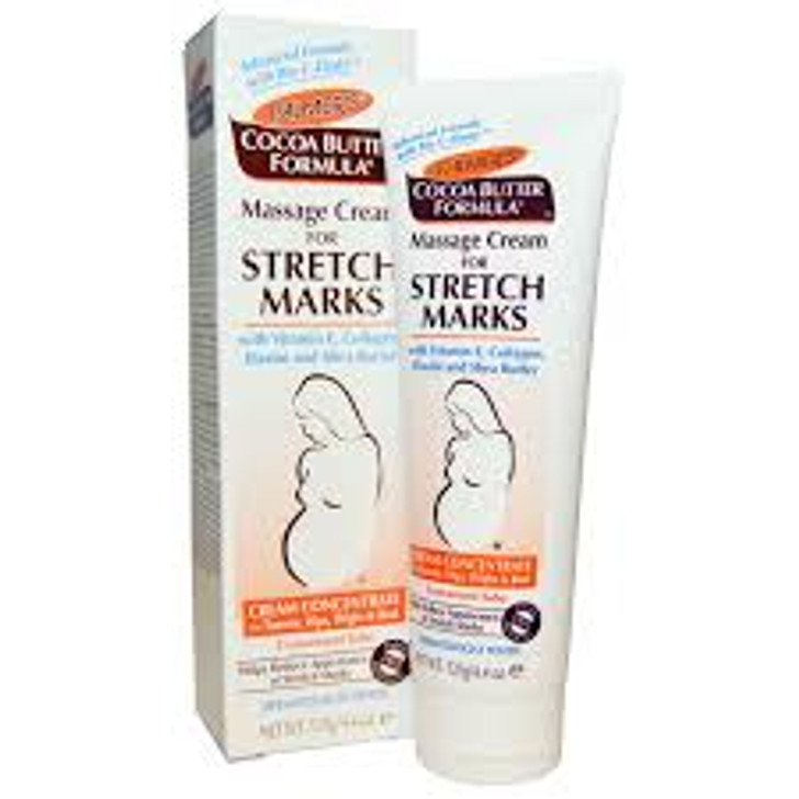 Treat your skin with Palmer's Cocoa Butter Formula Massage for Stretch Marks Cream. It is designed to help prevent and reduce the appearance of stretch marks. This Palmer's cocoa butter lotion also contains nourishing Vitamin E, collagen, elastin and shea butter.