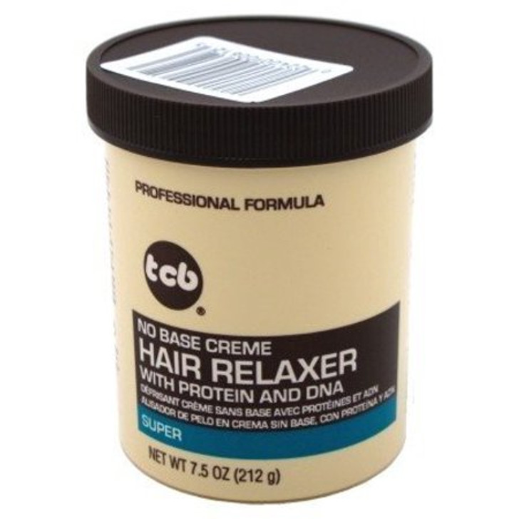 TCB No Base Hair Relaxer Creme Super 7.5 oz