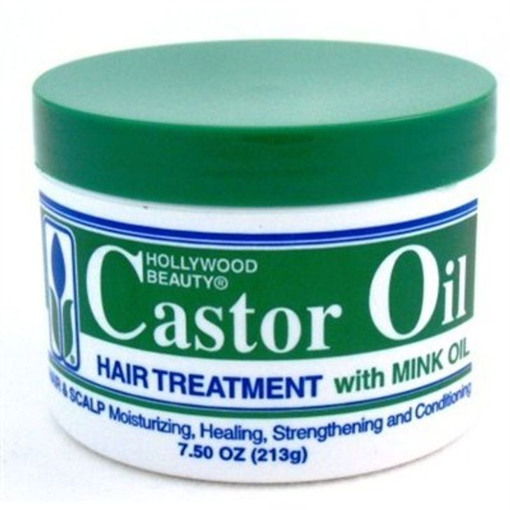Hollywood Beauty Products Hair Treatment - Castor Oil with Mink Oil 213g
