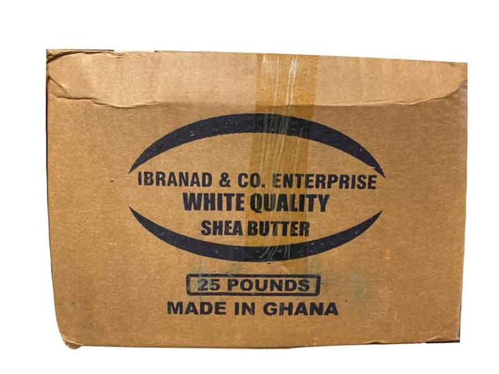 Raw African SHEA BUTTER Ibranad & Co White Quality From Ghana 24.5 lbs