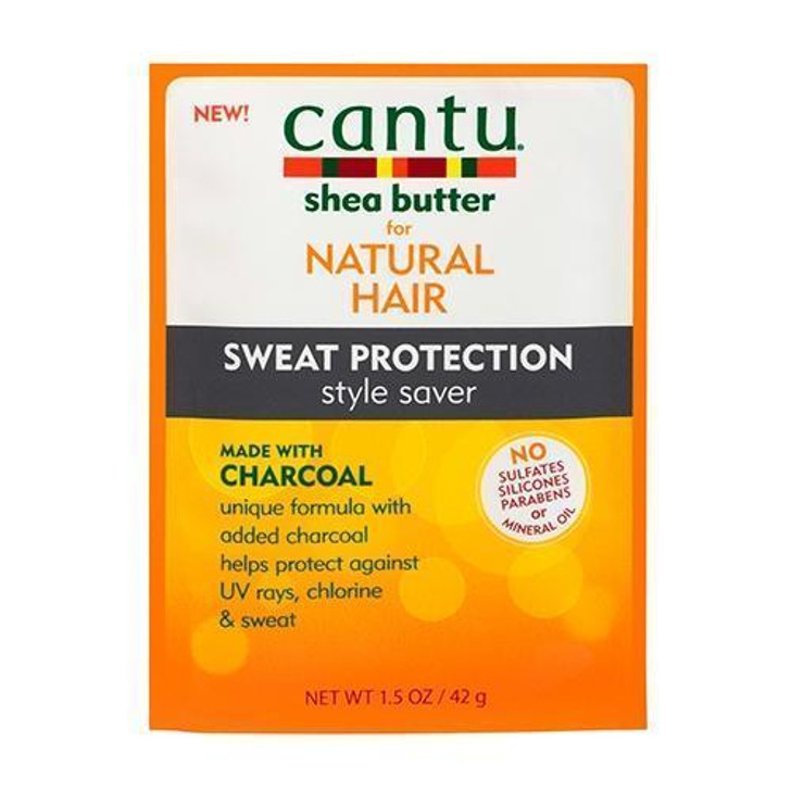 Cantu Shea Butter For Natural Hair Charcoal Sweat Protection Style Saver Packet 1.5oz each