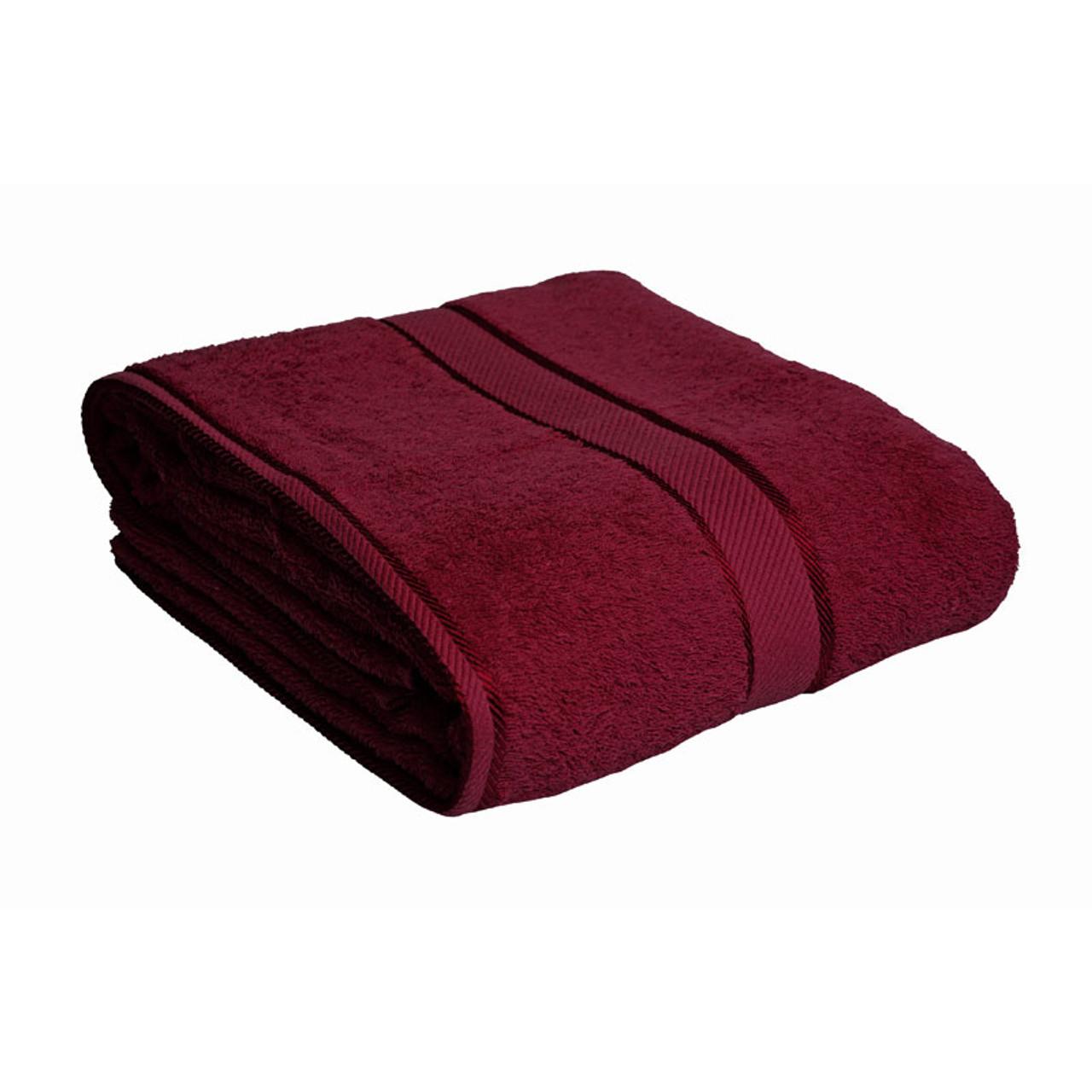 100 Cotton Burgundy Towels Bath Sheet Kingtex
