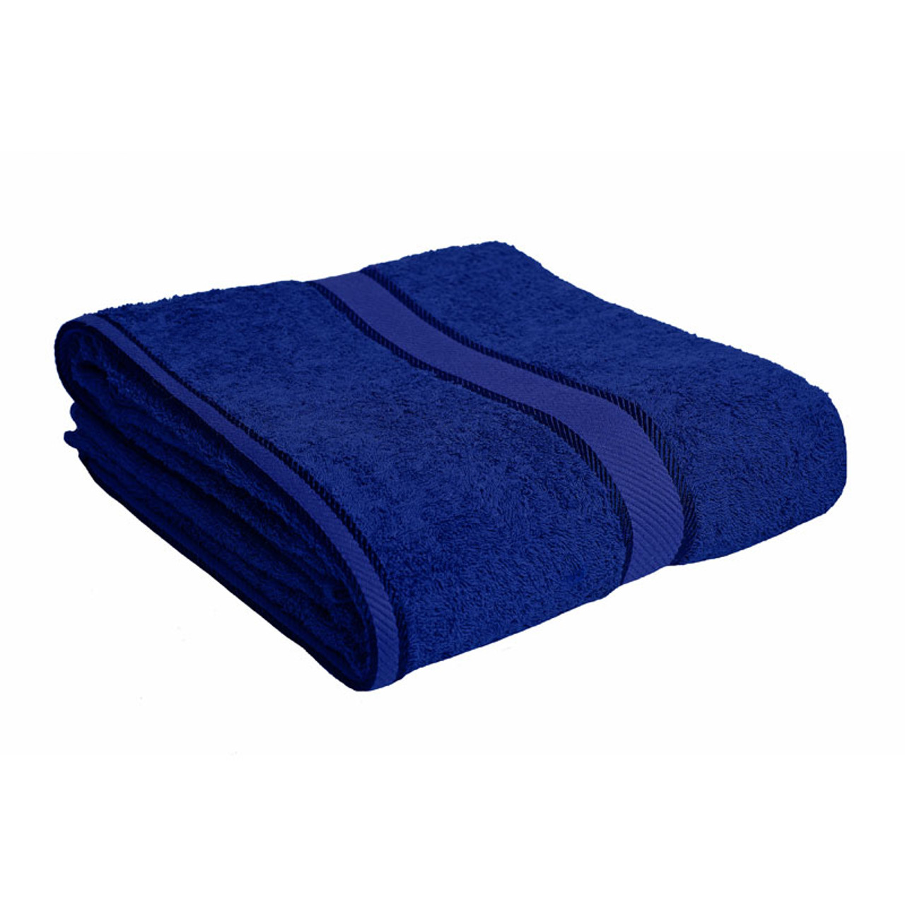 100 Cotton Royal Blue Towels Bath Sheet Kingtex