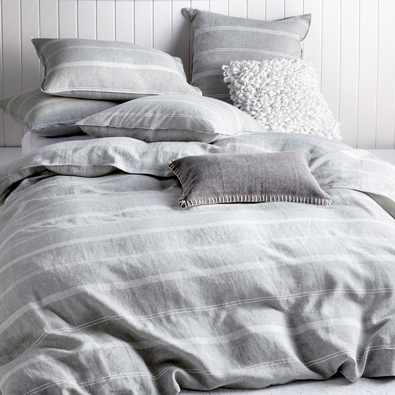 Balmoral Neutral Quilt Cover Set Queen Bed Kas My Linen