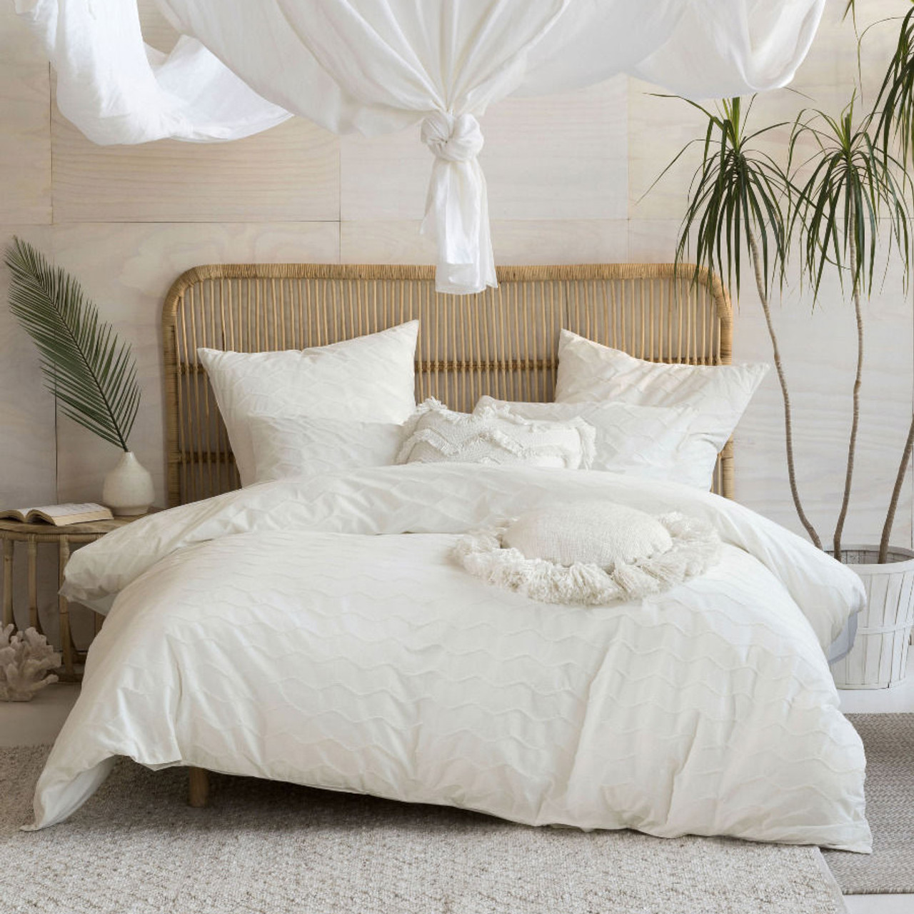 Linen House Mickael White Quilt Cover Set Single Bed My Linen