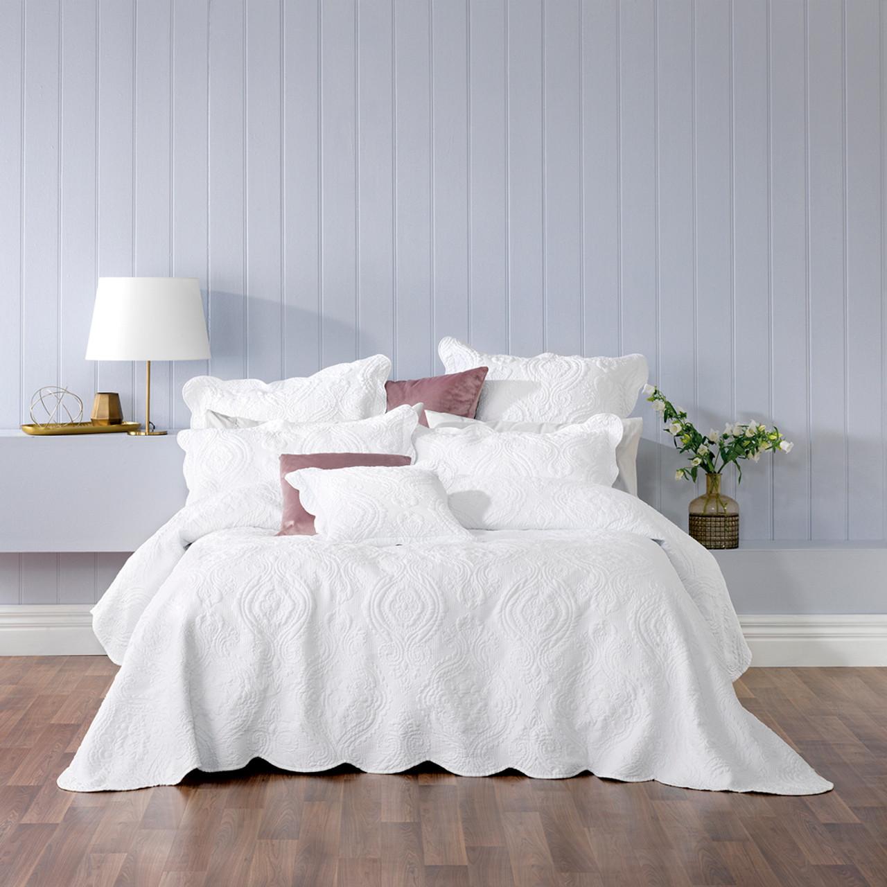 Picture of: Bianca Cordelia White Queen Bed Bedspread Set My Linen