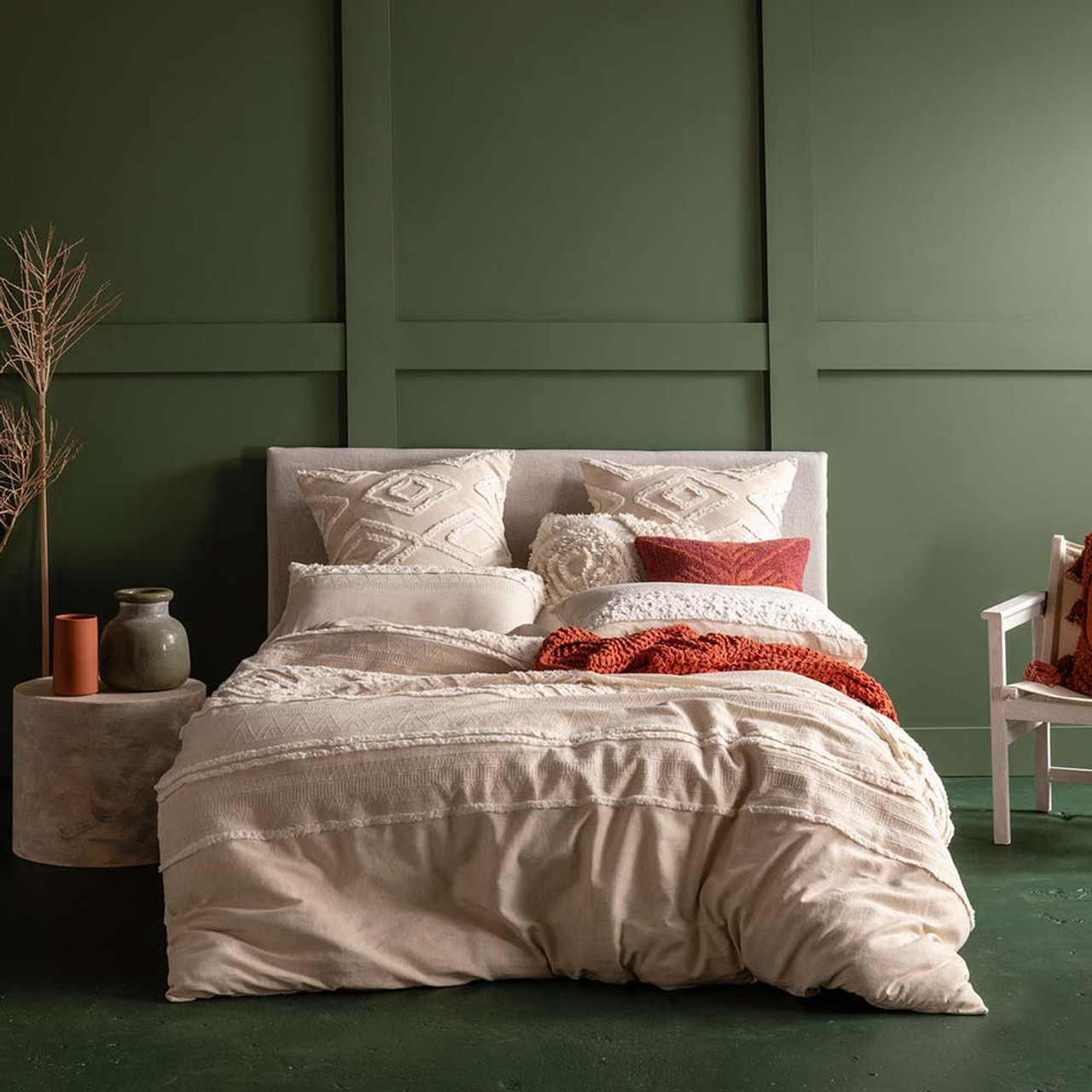Korri Natural Quilt Cover Set By Kas King Bed My Linen