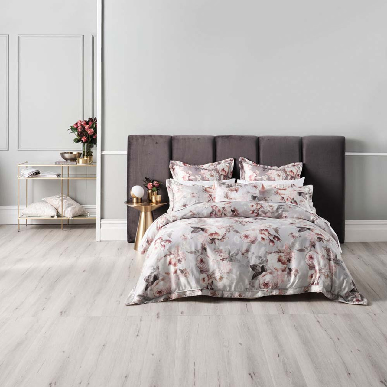 Stefania Silver Quilt Cover Set By Grace By Linen House Queen Bed My Linen