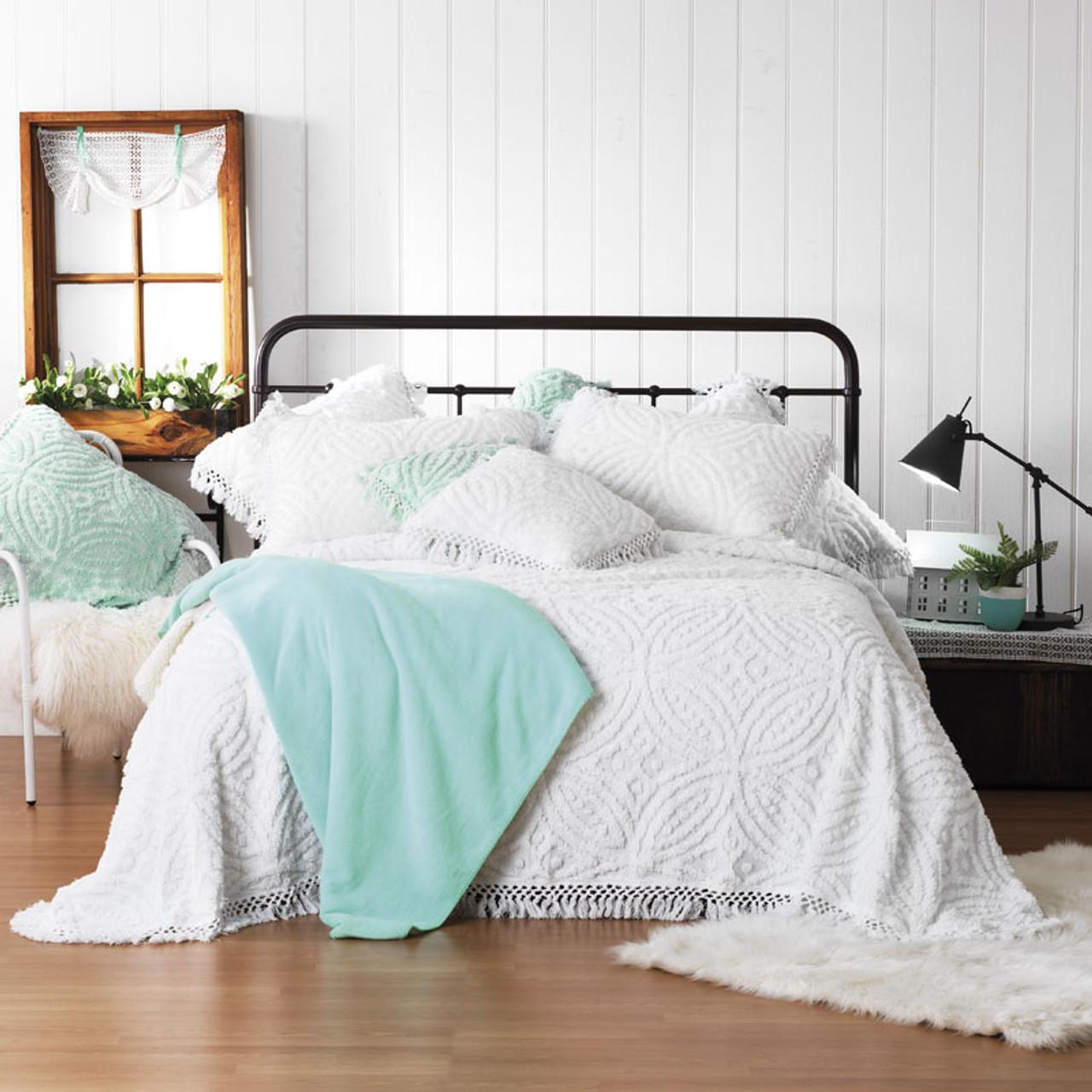 Kalia White Bedspread Set By Bianca Queen Bed My Linen