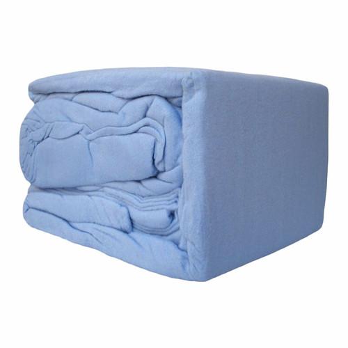 Blue Flannelette Sheet Set