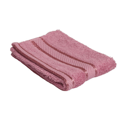 100% Cotton Rose Pink Face Washer