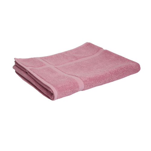 100% Cotton Rose Pink Bath Mat