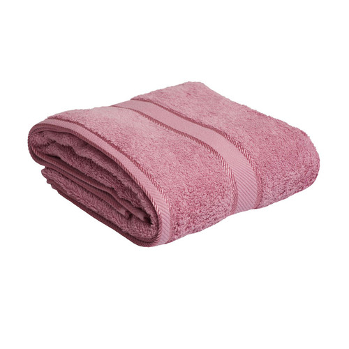 100% Cotton Rose Pink Bath Towel