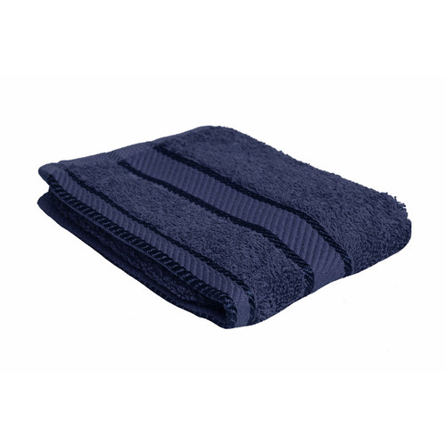 100% Cotton Navy Blue Face Washer