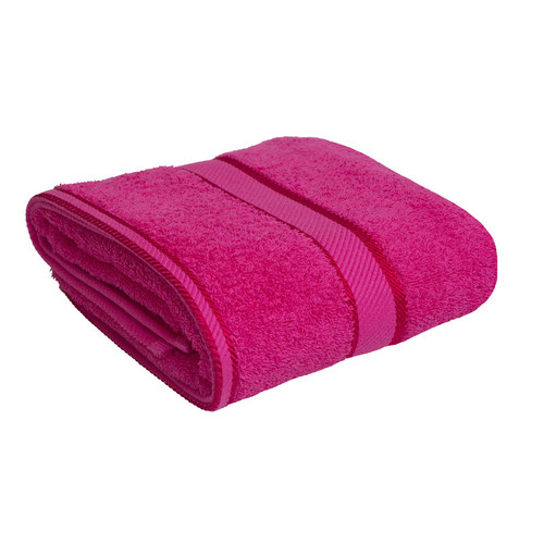 100% Cotton Fuchsia / Hot Pink Bath Towel
