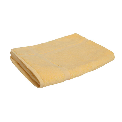 100% Cotton Yellow Bath Mat