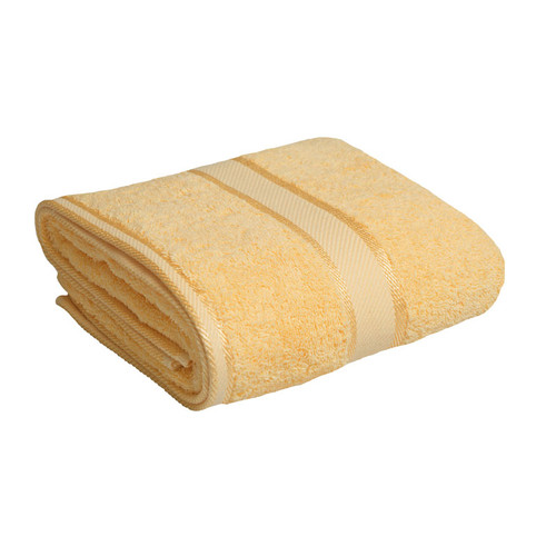 100% Cotton Yellow Bath Towel
